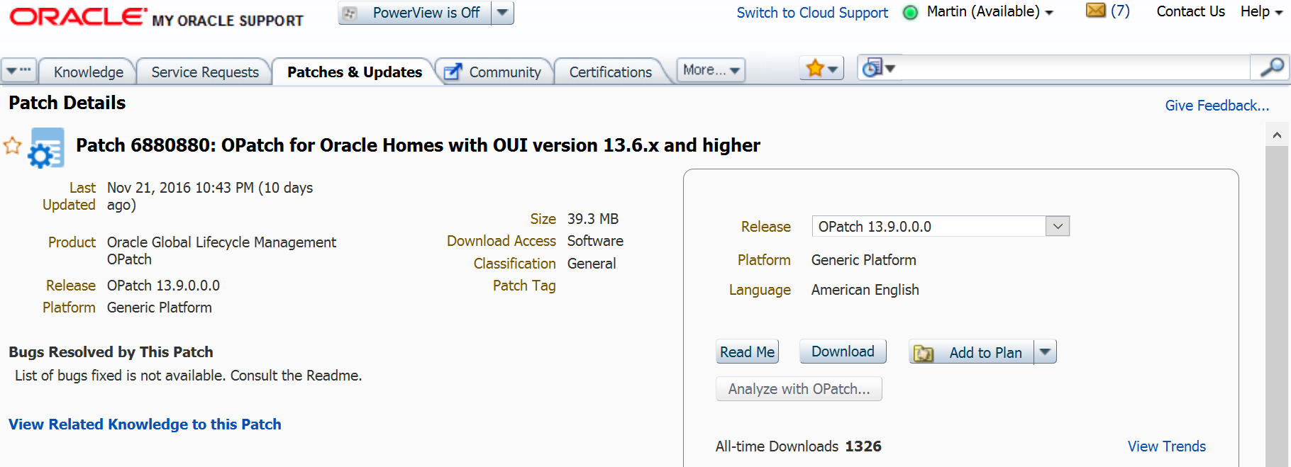 OPatch 13 9 in EM13c – Say Goodbye to Unzip, Copy & Paste