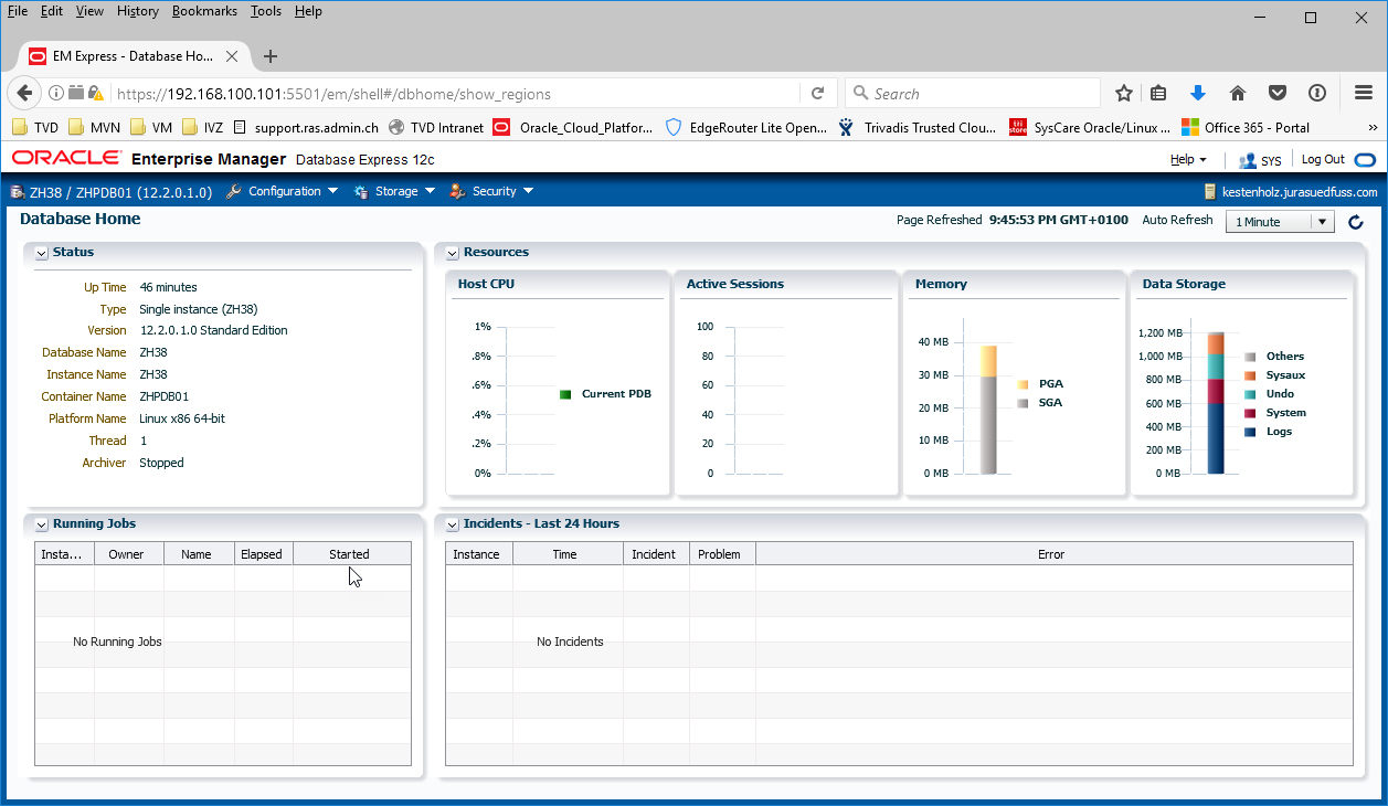 Oracle 12 2 – how to get access to Enterprise Manager 12c Database