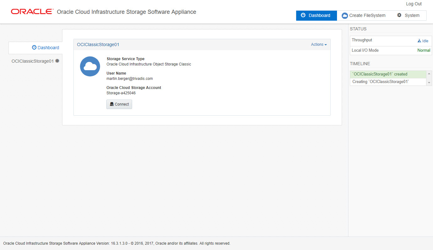 Oracle Cloud Infrastructure Storage Software Appliance